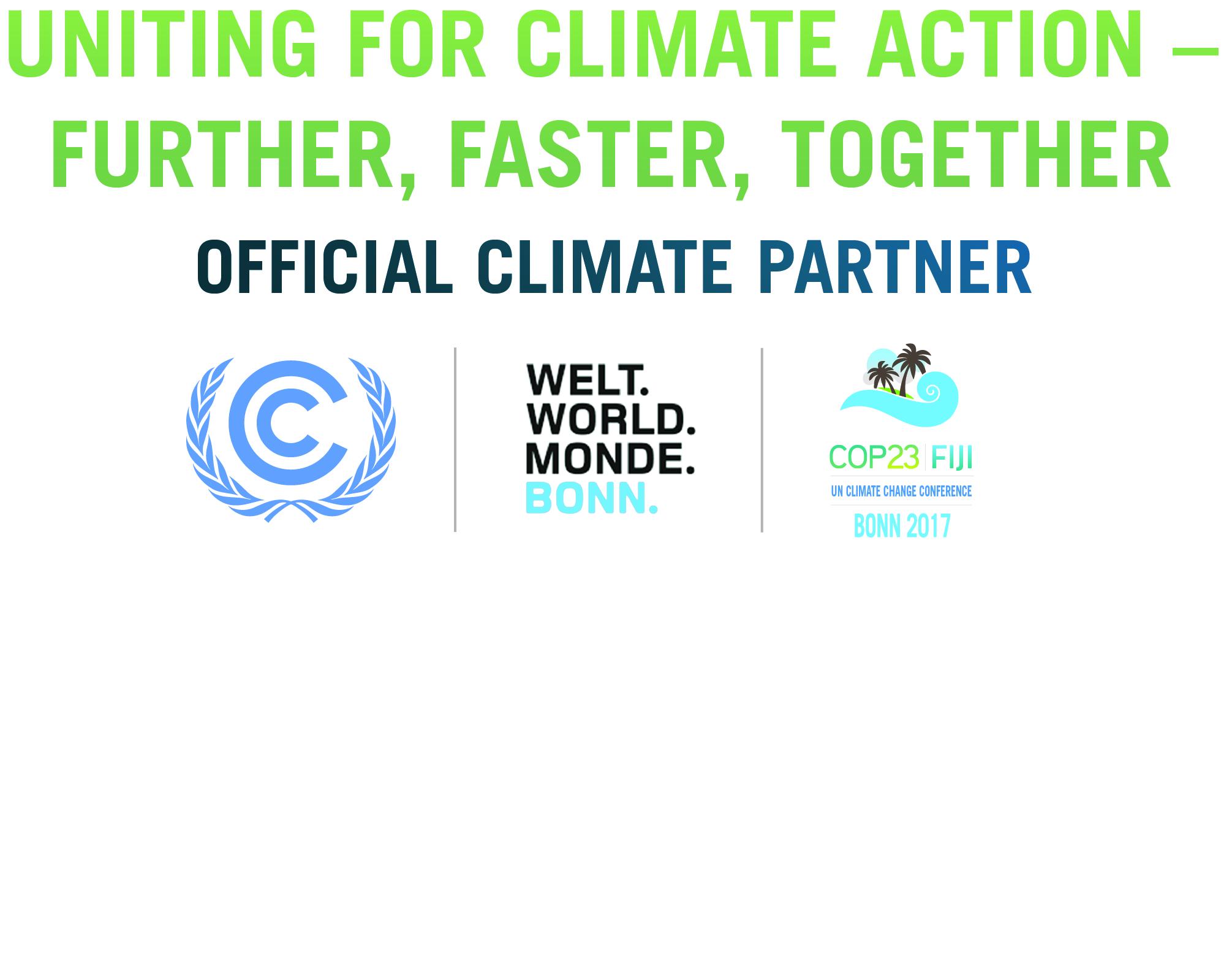 COP23 BonnCity Official Climate Partner Logo