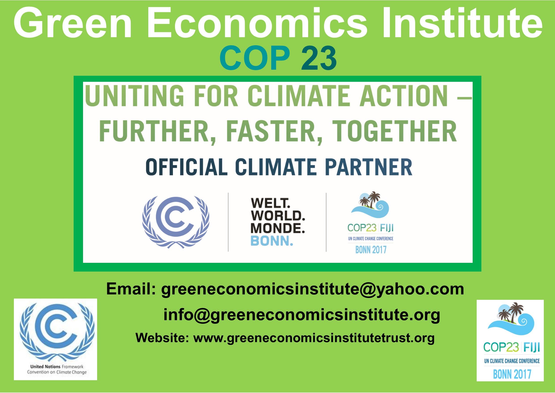 green economics cop 23 a3 poster